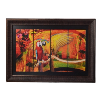 Colorful Parrot Satin Matt Texture UV Art Painting