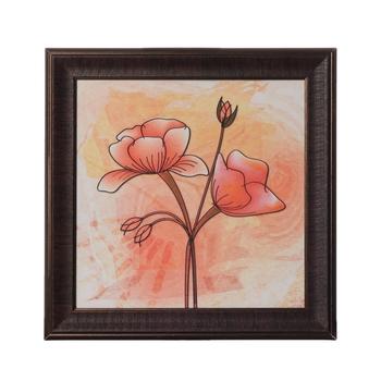 Beautiful Flower Special Effect Sparkle Velvet Touch Reprint