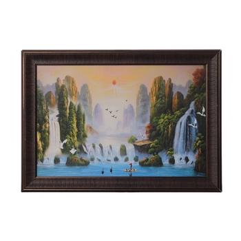 Waterfall View Satin Matt Texture UV Art Painting
