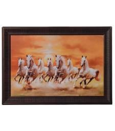 Running Lucky White Horses Satin Matt Texture UV Art Painting