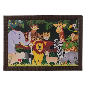 Happy Jungle Animals Satin Matt Texture UV Art Painting