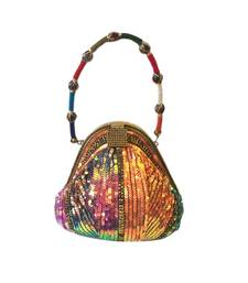 Buy Multicolour Sequinned Potli shaped Clutch (Multicolour) potli-bag online
