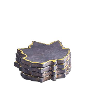 Black Maple Glint Wooden Coasters