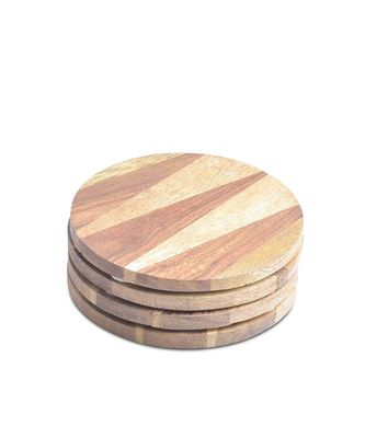 Alexa Wooden Coasters Sets