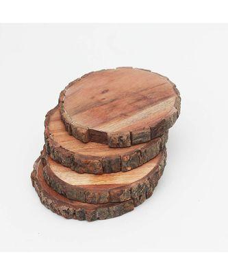 Bark Circle Wooden Coasters