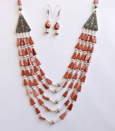 Buy Brown Agate Necklace set necklace-set online