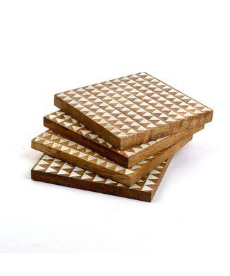 Handmade Rustic White Pyramid Coasters
