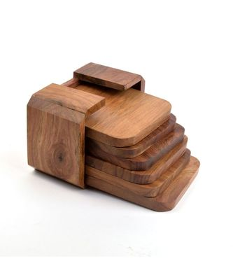 Wooden Handcrafted Round Edge Coasters