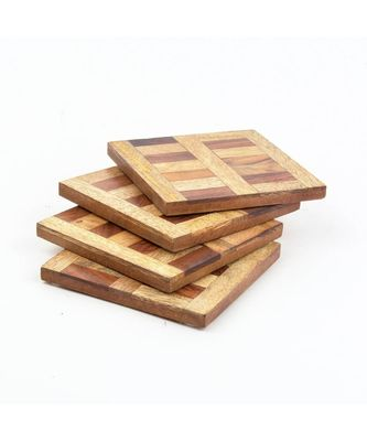 Handmade Box Patten Coasters
