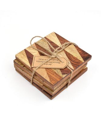 Love Triangle Square Handmade Coasters