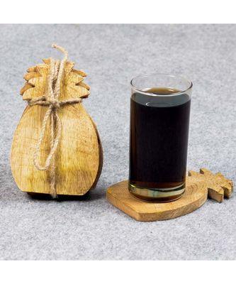 Miniature Pineapple Design Handmade Coasters