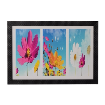 Colorful Floral Satin Matt Texture UV Art Painting