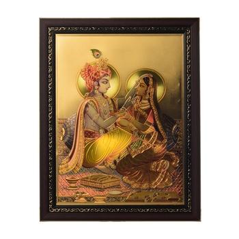 Radha Krishna Laminated Golden Foil
