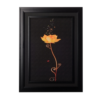 Sparkling Yellow Rose Special Effect Sparkle Velvet Touch Reprint
