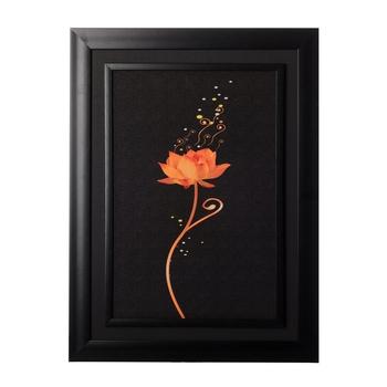 Sparkling Orange Rose Special Effect Sparkle Velvet Touch Reprint