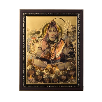 Lord Shiva Swami Laminated Golden Foil