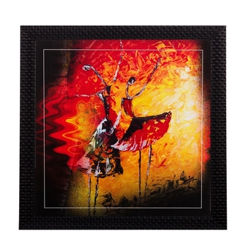 Dancing Girls Matt Textured UV Art Painting
