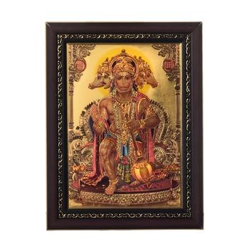 Panchmukhi Hanuman Laminated Golden Foil