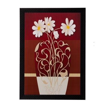 Floral Pot Matt Textured UV Art Painting