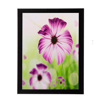 Pink and White Flower Matt Textured UV Art Painting