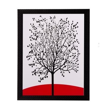 Abstract Black Tree Matt Textured UV Art Painting