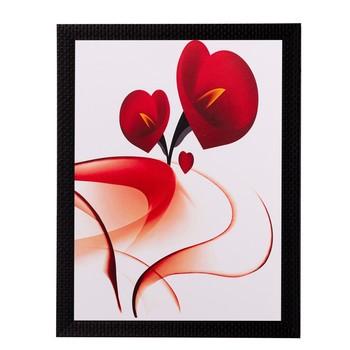 Heart Share Roses Matt Textured UV Art Painting