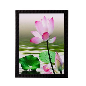 Water Side Floral View Matt Textured UV Art Painting