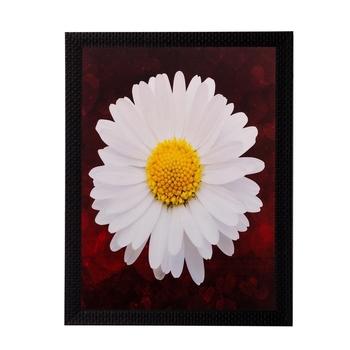 White Sunflower Matt Textured UV Art Painting
