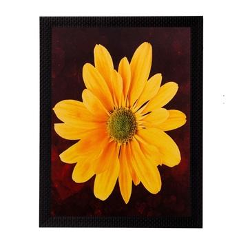 Yellow Sunflower Matt Textured UV Art Painting