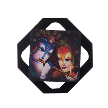 Radha Krishna Special Effect Sparkle Velvet Touch Reprint on MDF