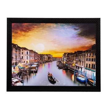 Coloful River View Matt Textured UV Art Painting