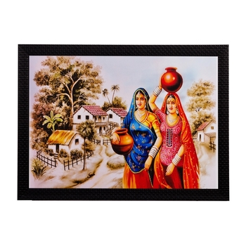 Village Women Matt Textured UV Art Painting