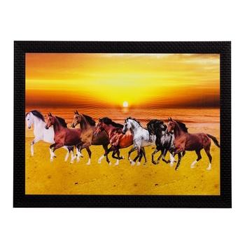 Running Lucky Horses Matt Textured UV Art Painting