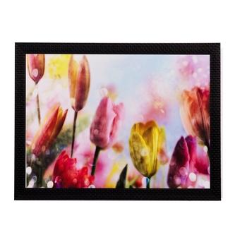 Colorful Floral Matt Textured UV Art Painting
