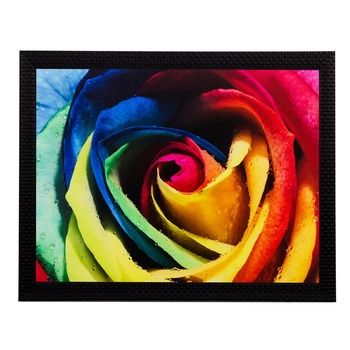 Colorful Floral View Matt Textured UV Art Painting