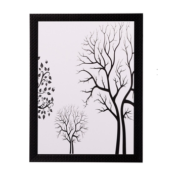 Abstract Tree View Matt Textured UV Art Painting