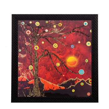 Sparkling Tree Balls Matt Textured UV Art Painting