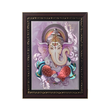 Lord Ganesha Laminated Silver and Golden Foil