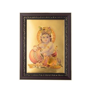 Laddu Gopal Laminated Golden Foil