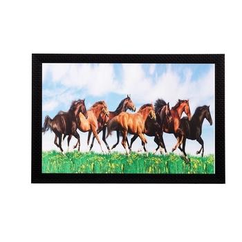 Running horses Matt Textured UV Art Painting