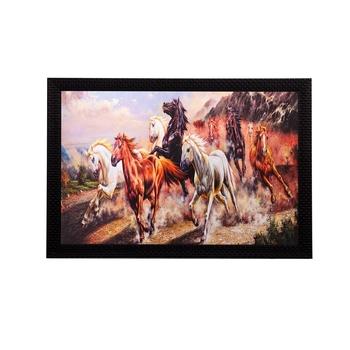 Racing Horses Matt Textured UV Art Painting