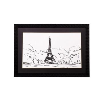 Lovely Eiffel Tower Matt Textured UV Art Painting