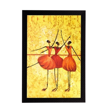 Dancing Girls Matt Textured UV Art Painting