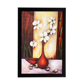Botanical White flowers Matt Textured UV Art Painting