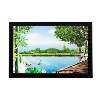 Scenic Water and Trees Matt Textured UV Art Painting
