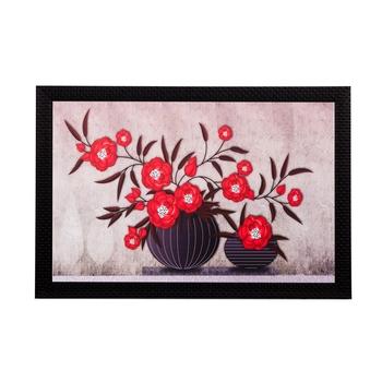 Botanical Red Flowers Matt Textured UV Art Painting