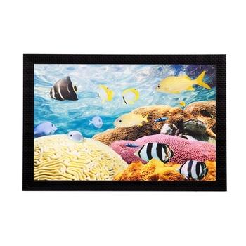 Underwater Sealife View Matt Textured UV Art Painting
