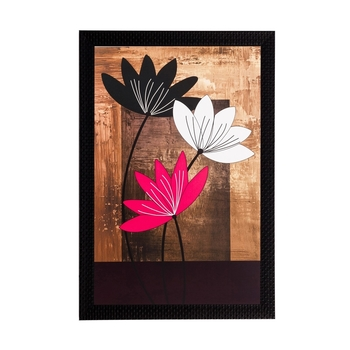 Abstract Flowers Captured Matt Textured UV Art Painting