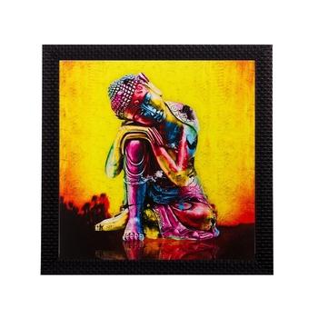 Knee Buddha Matt Textured UV Art Painting