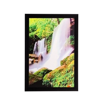 Scenic Waterfall Matt Textured UV Art Painting